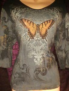 Cactus Bay Apparel Embellished Tunic Size XL